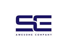 Creative Letter SE Logo Design Elements. Simple Letter S And E Letter Logo,Business Corporate Letter S Logo Design Vector. Simple And Clean Flat Design Of Letter S&E Logo Vector Template.
