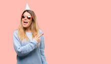 Young Woman Celebrates Birthda...