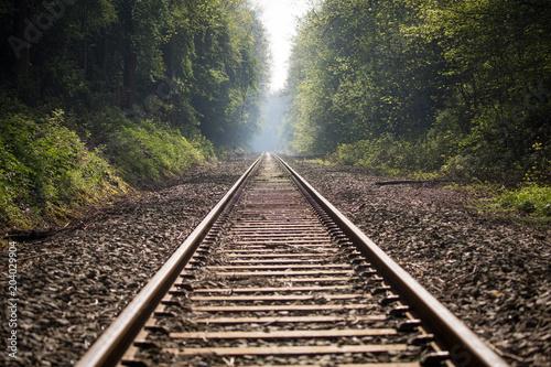 Poster Voies ferrées train track