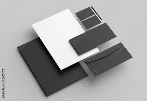 Obraz na płótnie Corporate identity stationery mock up isolated on gray background