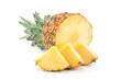 canvas print picture - Pineapple tropical fruit closeup
