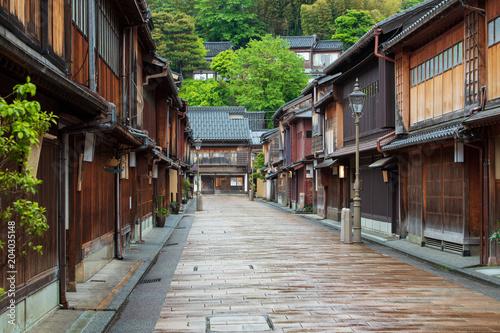 Fototapeten Schmale Gasse 金沢の茶屋街