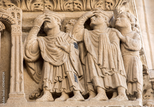 Photo Details of the west portal  Saint Trophime Cathedral in Arles, France