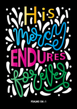 Hand Lettered Mercy Endures Fo...