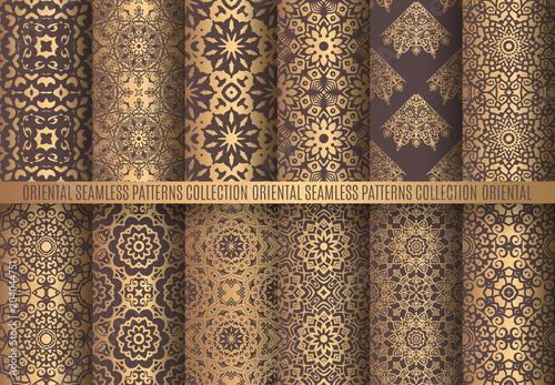 Photo Golden Arabesque Patterns