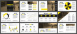 Yellow and black business presentation slides templates from infographic elements.