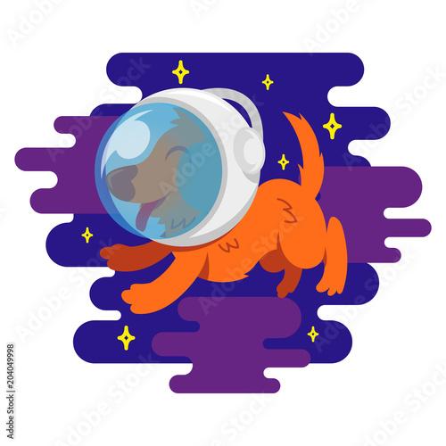 Obraz Dog in space - fototapety do salonu