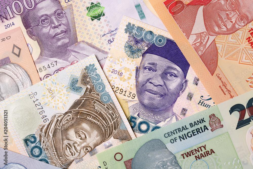 Valokuva  Nigerian money, a background