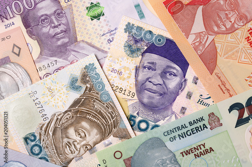 Valokuva  Nigerian money, a background