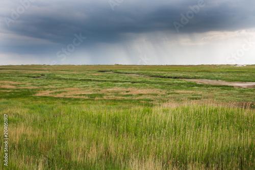 In de dag Noordzee Regenfront
