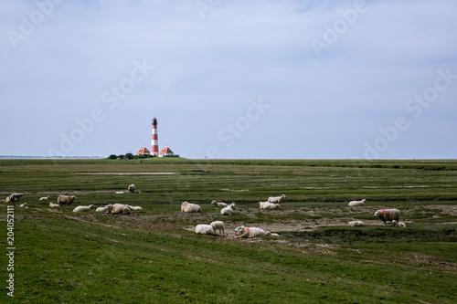 Spoed Foto op Canvas Noordzee Leuchtturm III