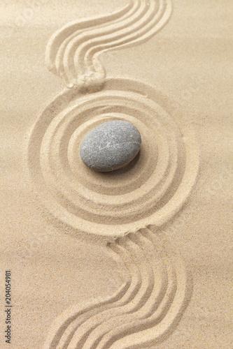 Aluminium Prints Zen zen garden meditation stone background