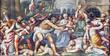 canvas print picture - PARMA, ITALY - APRIL 16, 2018: The fresco of Macacre of Inocents in Duomo by Lattanzio Gambara (1567 - 1573).