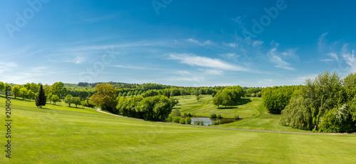 Golfplatz Panorama Fototapeta