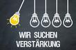 canvas print picture - Wir suchen Verstärkung / Lampen / Konzept