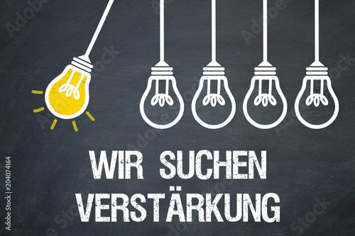 Wir suchen Verstärkung / Lampen / Konzept