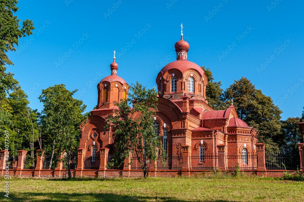 Fototapety, obrazy: Cerkiew prawosławna w Białowieży, Polska