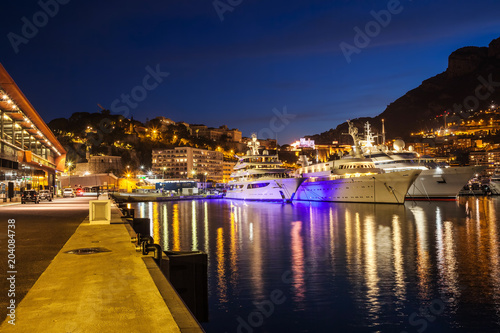 Poster Poort Port of Monaco by Night
