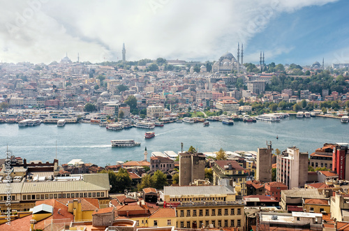 Istanbul and Bosphorus from a bird's eye view Poster