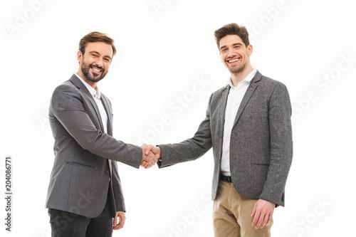 Fototapeta Portrait of a two confident business men obraz