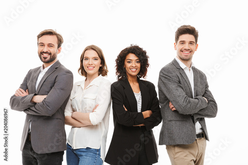 Fotografia  Group of happy multiracial business people