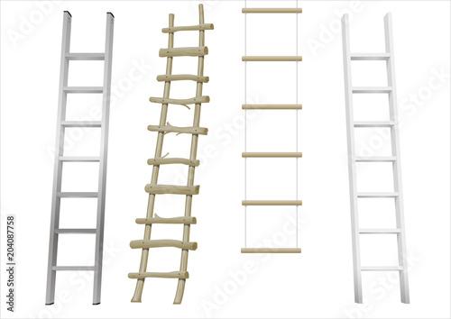 Fotografie, Obraz Set of different ladders