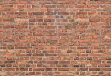 Orange Seamless Background From Old Bricks