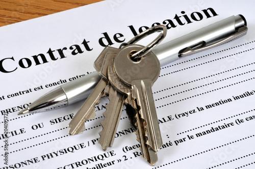 Cuadros en Lienzo Clés posées sur un contrat de location