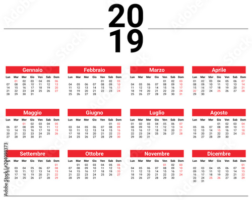 Calendario Svizzero.Calendario 2019 Svizzero Ikbenalles
