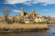 City skyline with the Cathedral, Salamanca, Castile and Leon, Spain