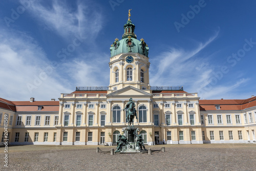 Foto auf Leinwand Schloss Facade of Schloss Charlottenburg palace in Berlin, Germany - Europe