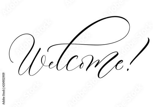 Valokuva  Welcome lettering
