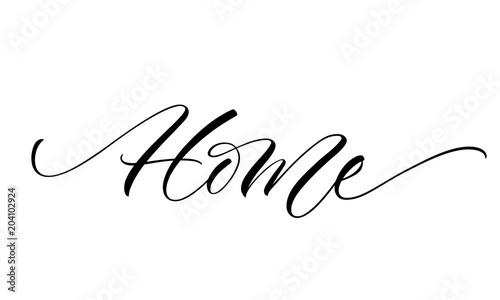 Valokuva  Home lettering
