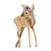 Cute Deer, Hand Painted Deer O...