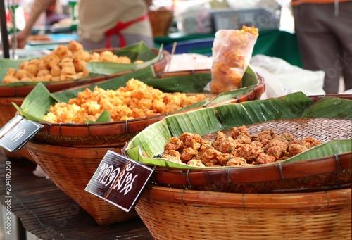 In de dag Bangkok Fish cake at street food