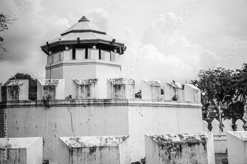 Black & White, Thailand vintage Fortress in past, Bangkok Poster