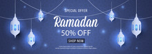 Special Offer Ramadan Sale Islamic Ornament Lantern Mosque Banner Template