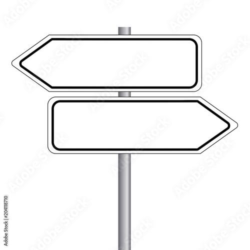 Fotografía  Wegweiser - Straßenschild ohne Text. Vektor Eps10.