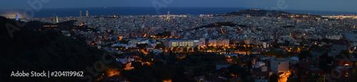 Foto op Canvas BarcelonaPanorámica de Barcelona por la noche