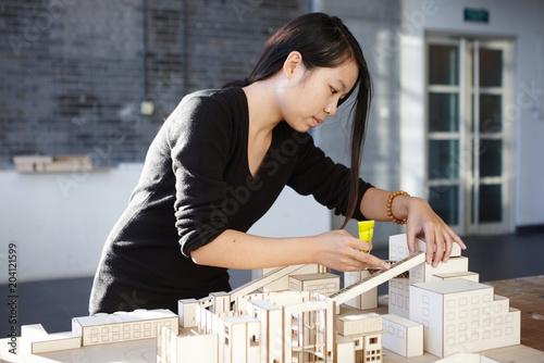 Trainee in a studio set up model