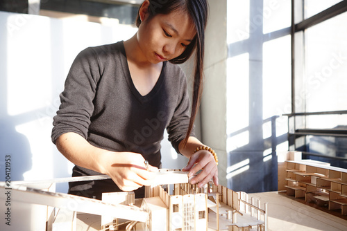 Trainee in a studio set up model
