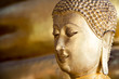 Close up face of Buddha statue used as amulets in Buddhism religion