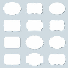 Vector Set Of Blank Frames And Empty Tags