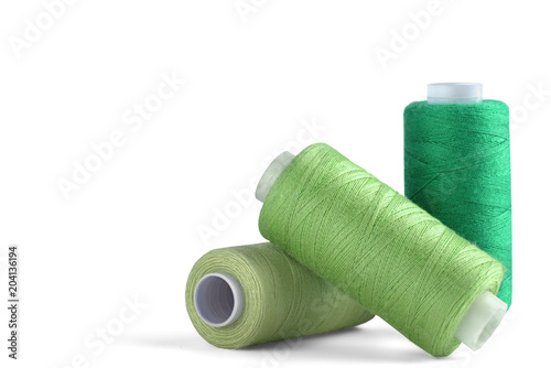 Obraz na plátne sewing thread on white background for designers