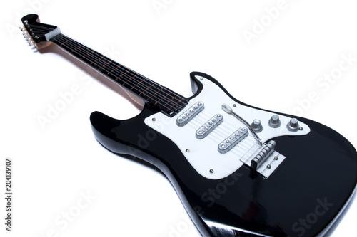 Fotografía electric guitar on white background