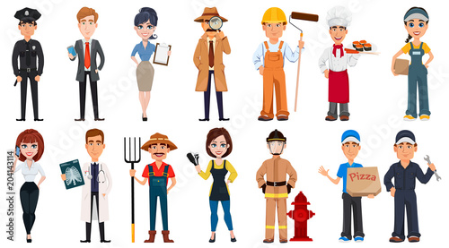 Photo  People of different professions.