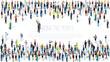 Isometric People crowd.