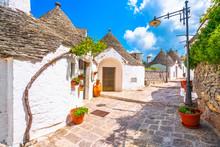 Trulli Of Alberobello Typical Houses. Apulia, Italy.
