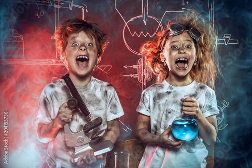 Photo  funny school children