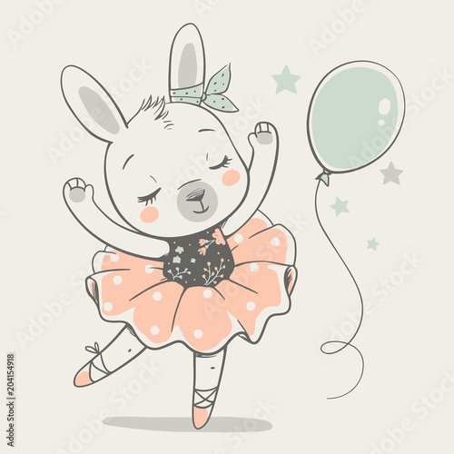 sliczna-dancingowa-krolik-baleriny-kreskowka-wrecza-patroszona-wektorowa-i